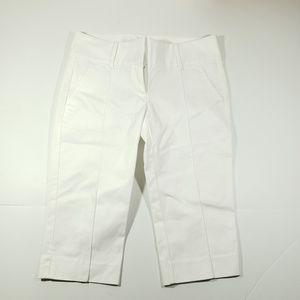 Ann traylor womens white crop capri pants size 2